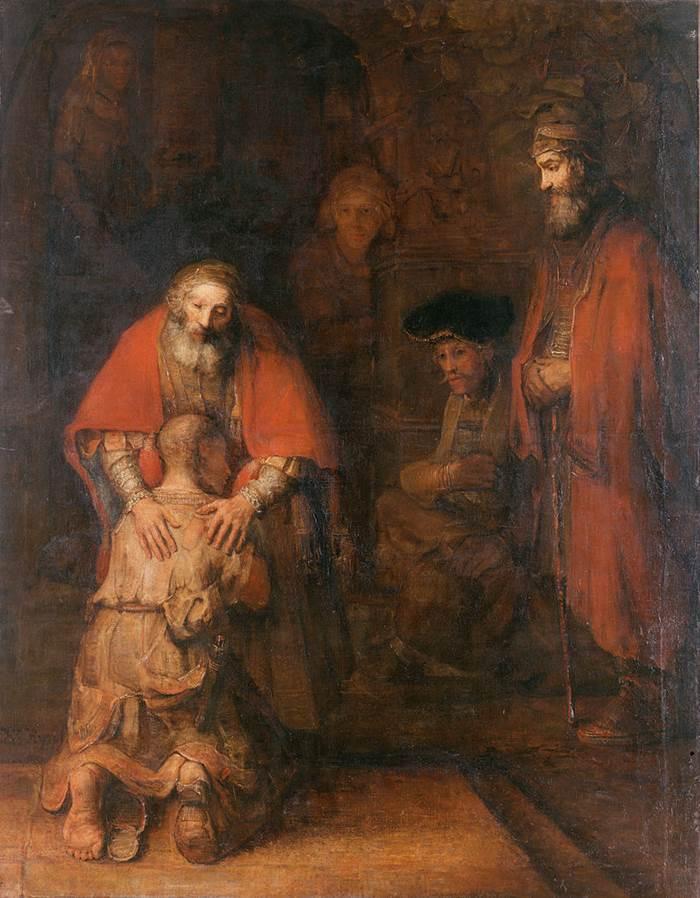 Картина Рембрандта Возвращение блудного сына