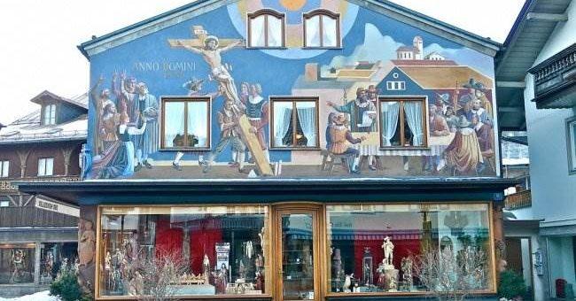 Обераммергау деревня картин в Германии