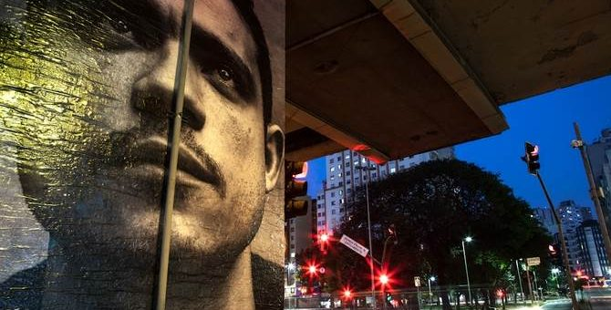 Raquel Brust - фото стрит-арт на улицах Сан-Паулу