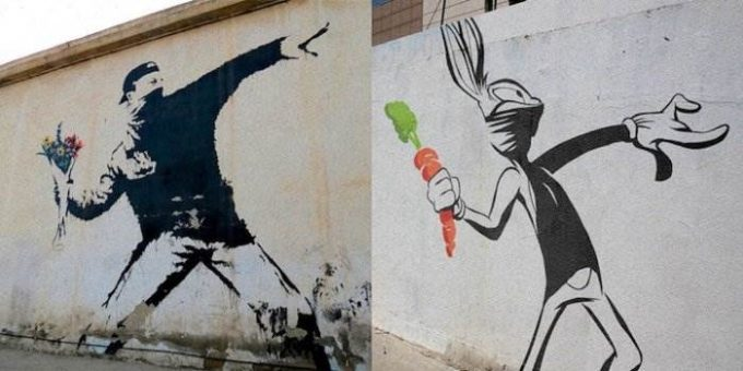 Пародии на граффити Бэнкси от Butcher Billy