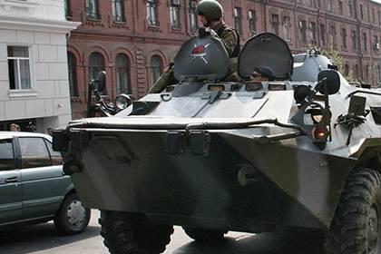 Погоня за БТР в Ленобласти 7.02.2016