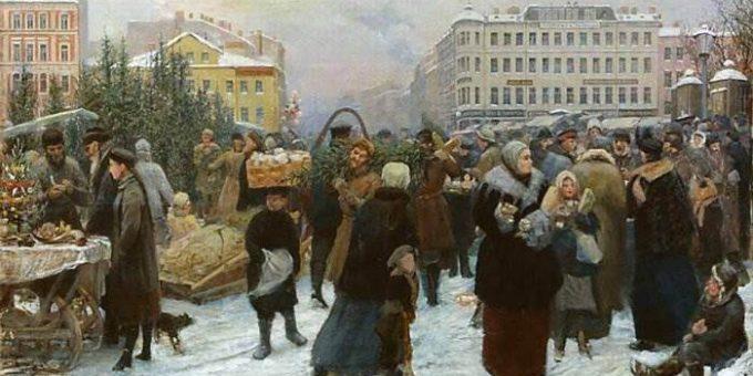 Новый год на картинах русских художников