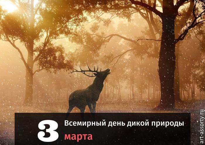 Всемирный день дикой природы 3 марта