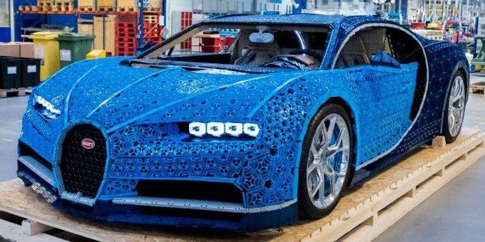 Из Lego собрали Bugatti Chiron в натуральную величину и на ходу