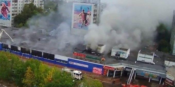 Пожар в торговом центре в Твери 20.08.2018 фото и видео
