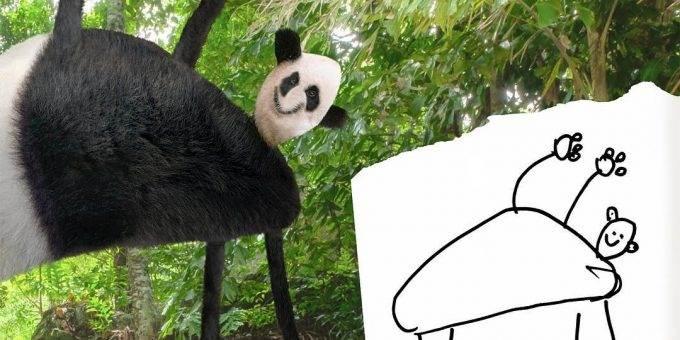 Художник превращает рисунки детей в смешные фото при помощи Фотошопа