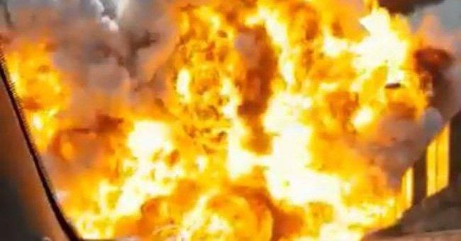В Болонье прогремел взрыв, фото и видео взрыва бензовоза