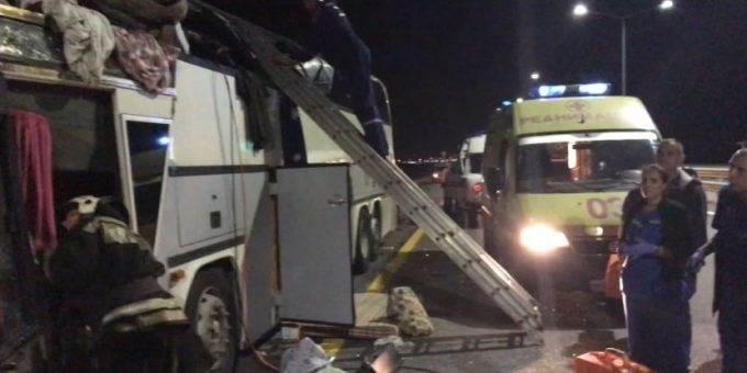 ДТП с двумя автобусами под Воронежем 18.09.2018 фото
