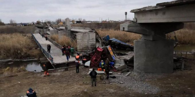 Обрушение моста под Воронежем 21.11.2018 фото