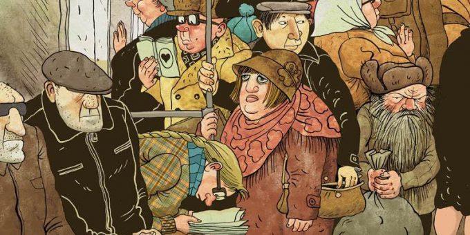 Русская художница рисует карикатуры на российскую действительность, и это очень правдоподобно