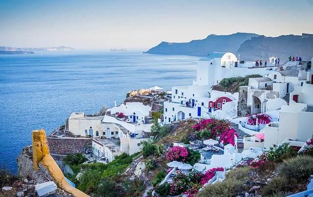 Санторини в Греции
