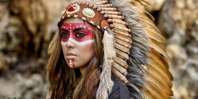 Что можно узнать по раскраске на лицах индейцев