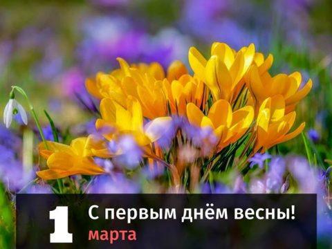 С первым днём весны поздравление