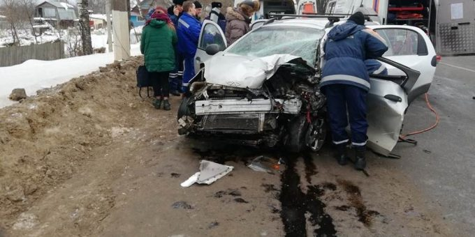 ДТП на Московском шоссе в Твери 10.02.2019 фото