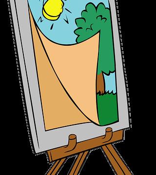 Мольберт с картиной