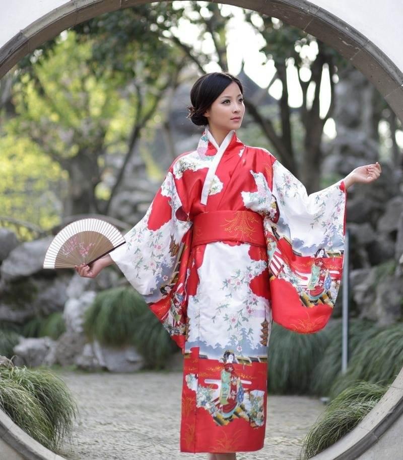 японское кимоно картинки протяжении всего