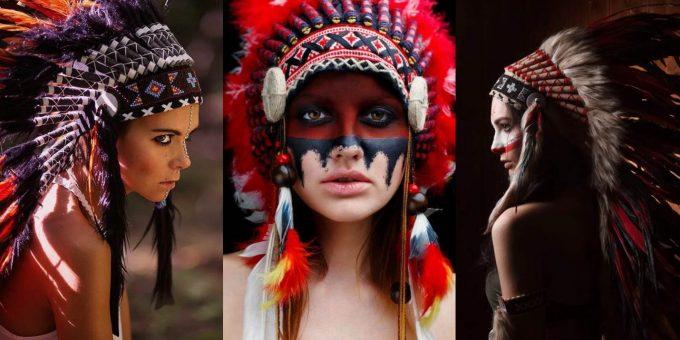 Красивый косплей на девушек-индейцев (24 фото)