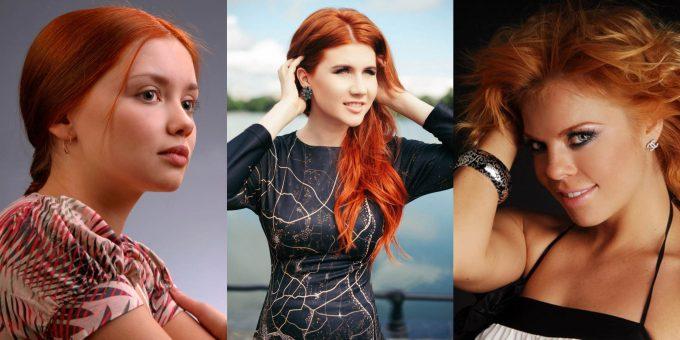 Самые красивые рыжеволосые россиянки (15 фото)