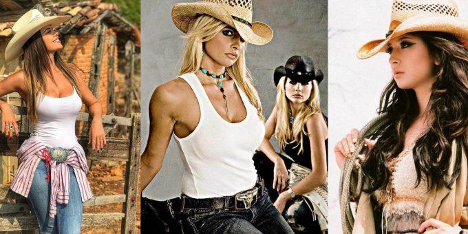 Косплей с красивыми девушками в ковбойском стиле (18 фото)