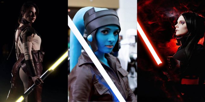 Красивый косплей с девушками в стиле «Звёздные войны» (20 фото)