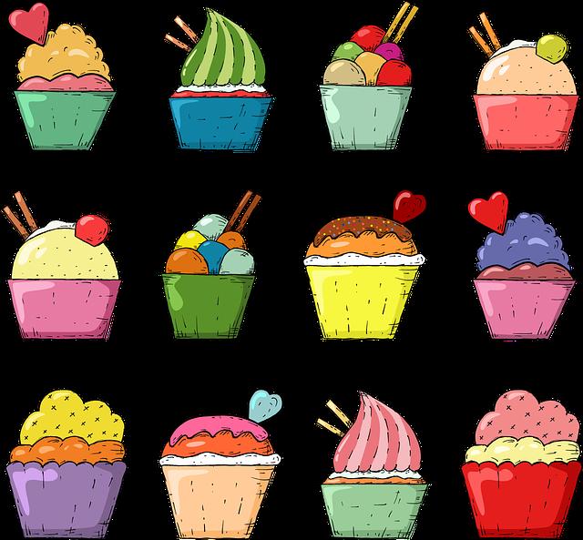 Пирожные рисунок