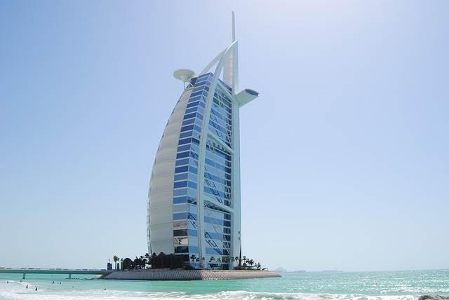 Бурдж-эль-Араб в Дубае фото