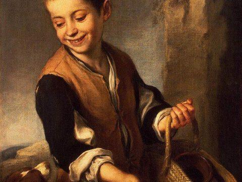 Бартоломе Мурильо картина Мальчик с собакой