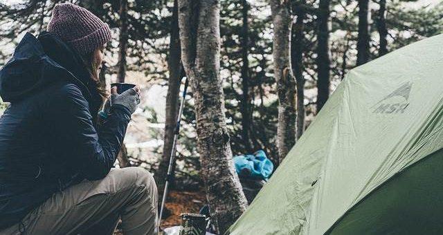 Поход в лес с палаткой фото