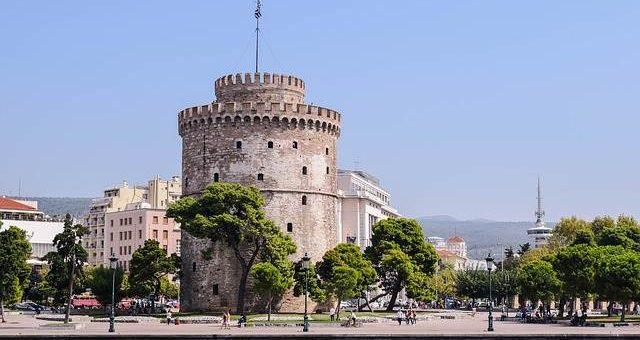 Город Салоники в Греции фото