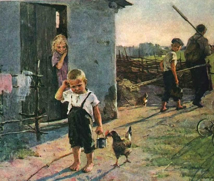 Картина Не взяли на рыбалку, Ксения Успенская-Кологривова