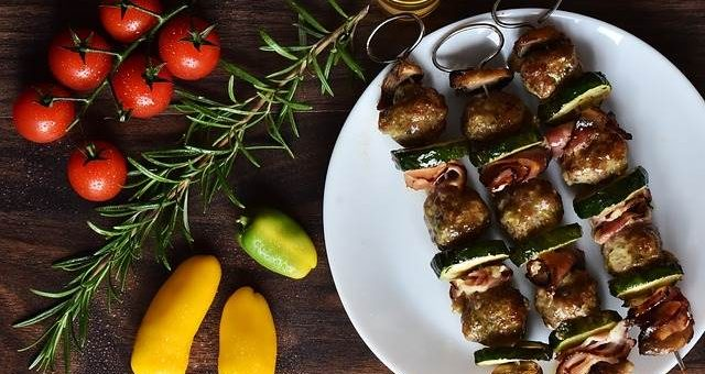 Шашлык с овощами фото