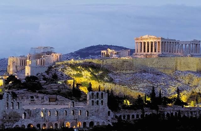 Акрополь в Афинах, Греция фото