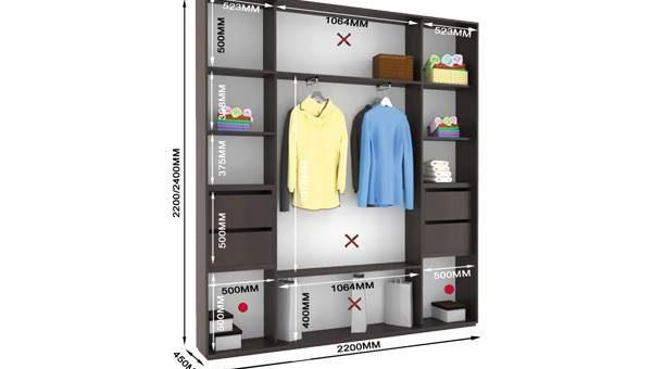 Шкафы купе функциональность наполнения