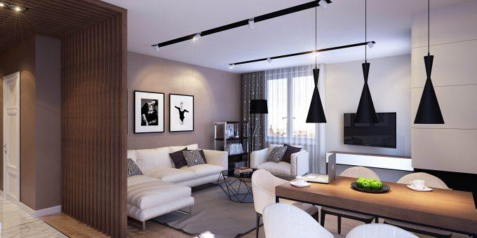 Современный дизайн квартиры-студии (10 фото)