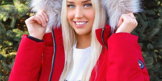 Блондинка с очаровательной внешностью, хоккейный вратарь Микайла Демайтер