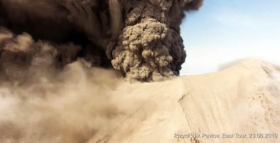 Извержение вулкана Райкоке 2019 фото