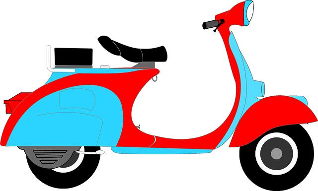 Скутер рисунок