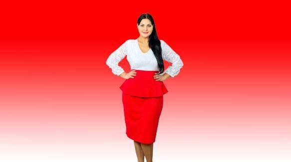 Полные девушки в красных юбках
