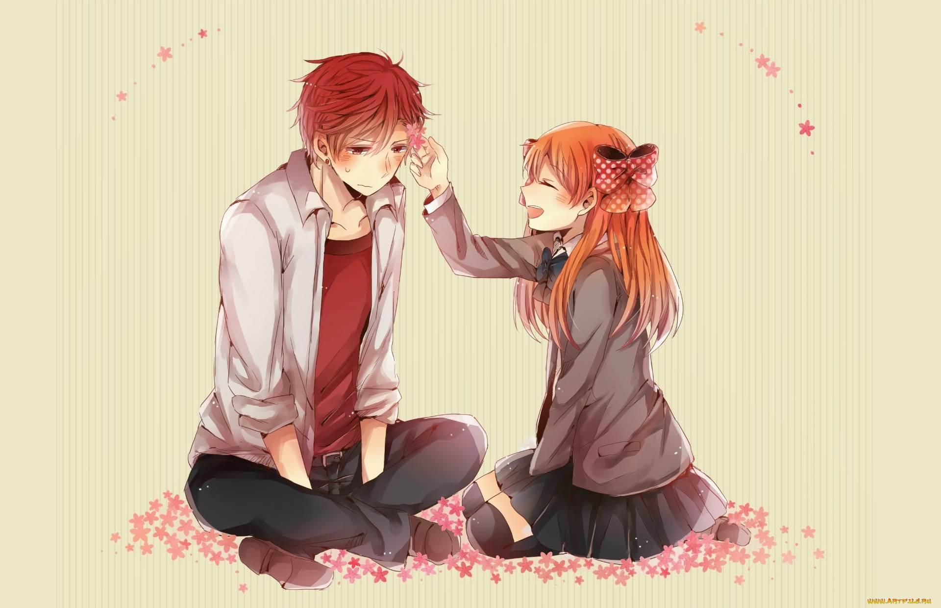 Картинка девушки и парня аниме