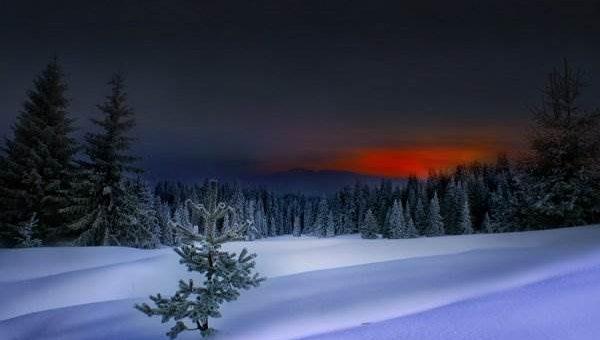 Зима красивое фото