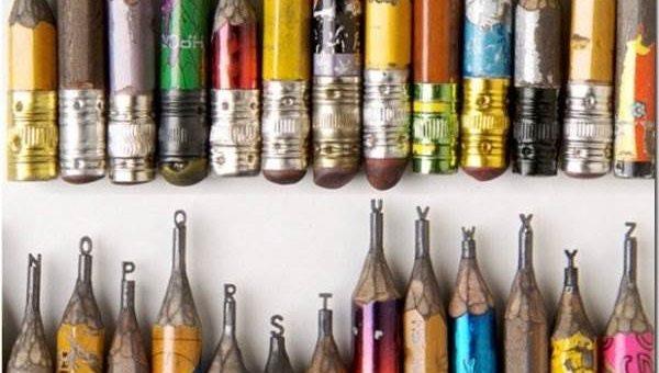 Джетти Дэлтон скульптуры из карандашей