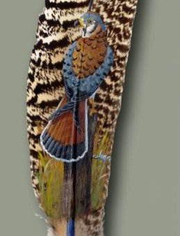 Julie Thompson рисунки на перьях