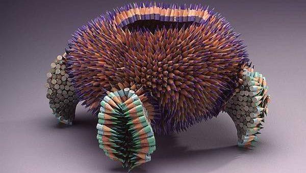Дженнифер Мэестр скульптура из карандашей