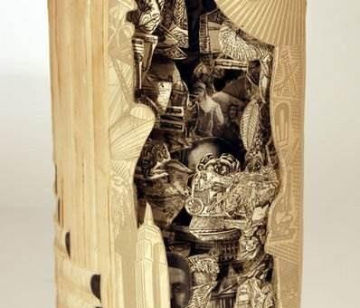 Скульптуры из книг Brian Dettmer