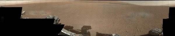 Марсоход Curiosity цветные фото Марса