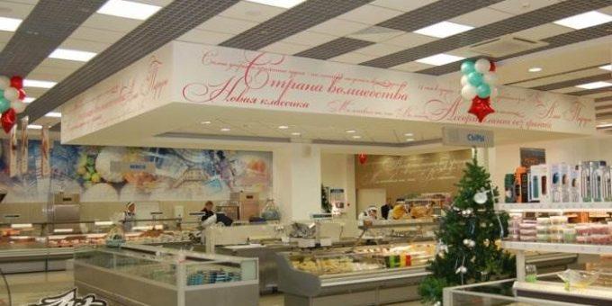 Художественная роспись стен - оригинальный вариант оформления торгового зала магазина