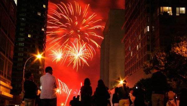 Фейерверки в честь Дня Независимости в США