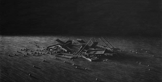 Рисунки углём. Художник Levi van Veluw - The Collapse of Cohesion