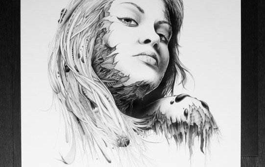 Художник Pierre Yves Riveau (PEZ) серия рисунков «Лица»