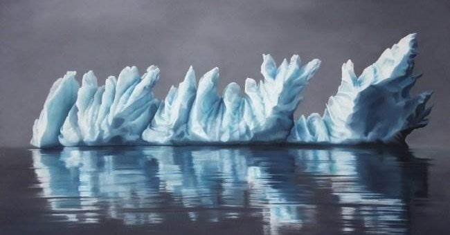 Zaria Forman (Зария Форман) рисующая айсберги